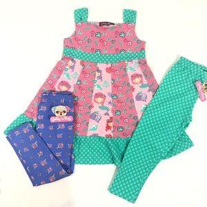Jelly the Pug Mermaid Dress & Legging Set
